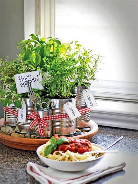 kitchen herb grow your own kitchen countertop herb garden hgtv