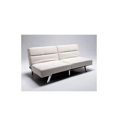 immagini divani letto divano letto olmedo in ecopelle bianco o nero 175 cm