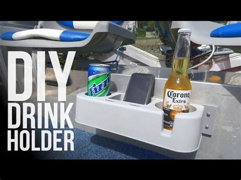 diy modified drink holder for the boat youtube - Boat Drink Holder Tray