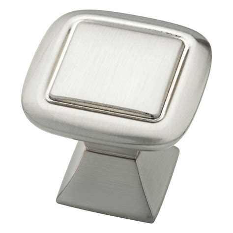 liberty 1 1 4 in satin nickel hollow cabinet knob p11747v sn c liberty southton 1 1 4 in satin nickel double square