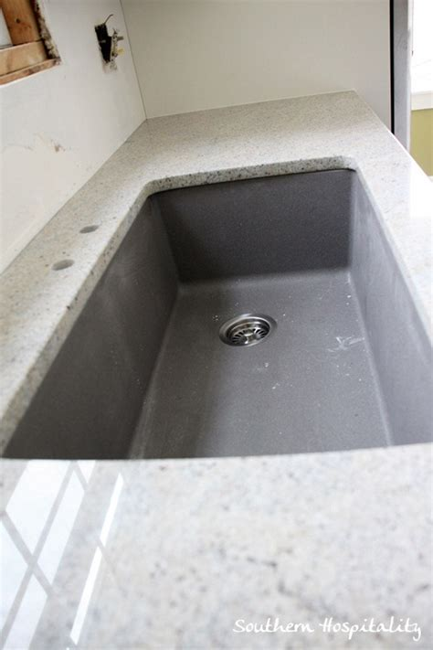 blanco metallic gray sink granite installation