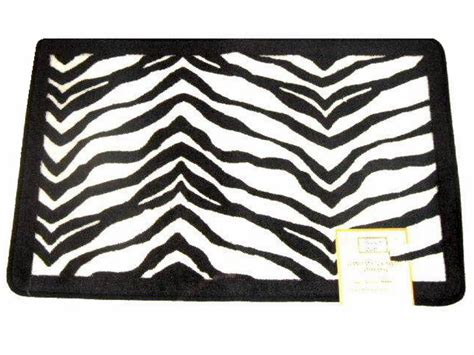 Zebra Mat by Popular Bath Zebra Stripe Bath Mat