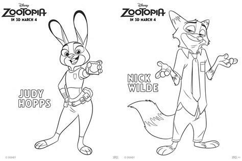 coloring pages zootopia zootopia character coloring pages fancy shanty