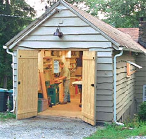 garden shed use as a woodworking shop
