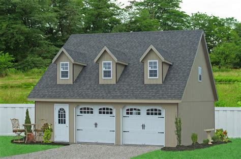 prefab garage with apartment 28x32 prefab car garage in smithville pa traditional