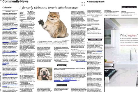 washington post sections wapo nixes community calendar animal columns on thursdays