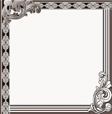 design undangan batik vector bingkai undangan 0052