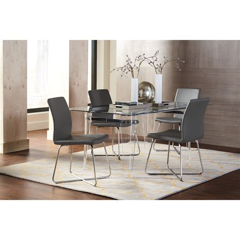 See Through Dining Chairs by Coaster Michonne See Through Dining Table Dunk Bright