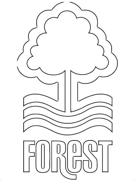 coloring page nottingham forest f c coloring pages