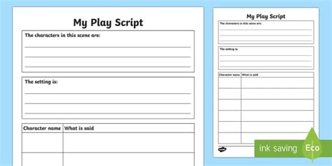 play format template script writing template for laptuoso