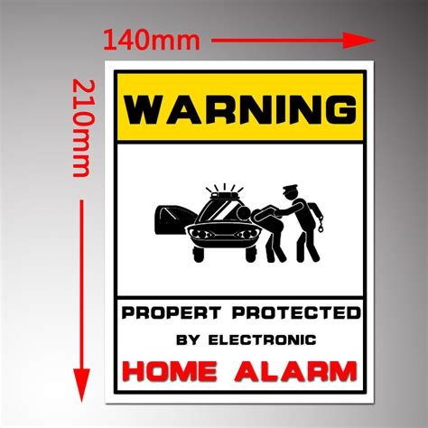 property monitored alarm system monitored stickers