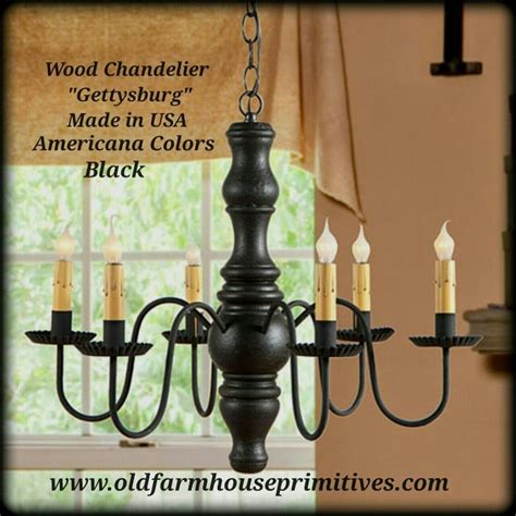 Chandeliers Made In Usa 9103 Primitive Wooden Gettysburg Chandelier In Americana Colors Made Farmhouse Primitives