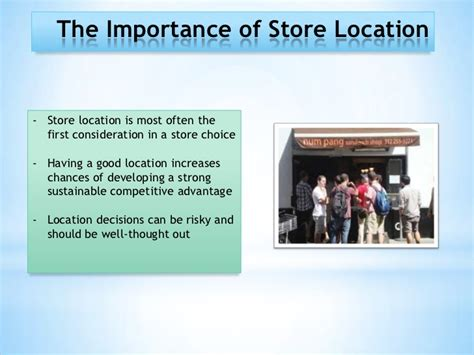 store locations chapter 7 retail locations ppt