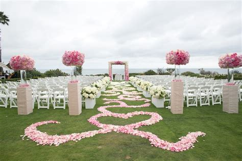 Wedding Aisle Flower Petal Designs by Pink White Wedding With Ombr 233 Details At Montage Laguna