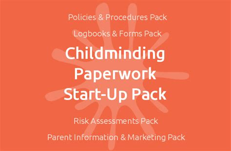 childminding paperwork start up pack mindingkids