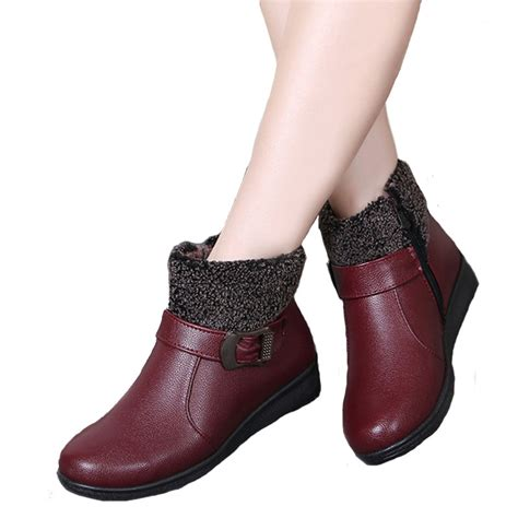 shoe boots for winter boots zip ankle boots waterproof warm