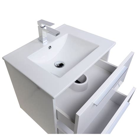 Modern Wall Mounted Bathroom Vanities Buy Nola 23 5 Quot Wall Mount Modern Bathroom Vanity Gloss White Tn T600c Hgw On Conceptbaths