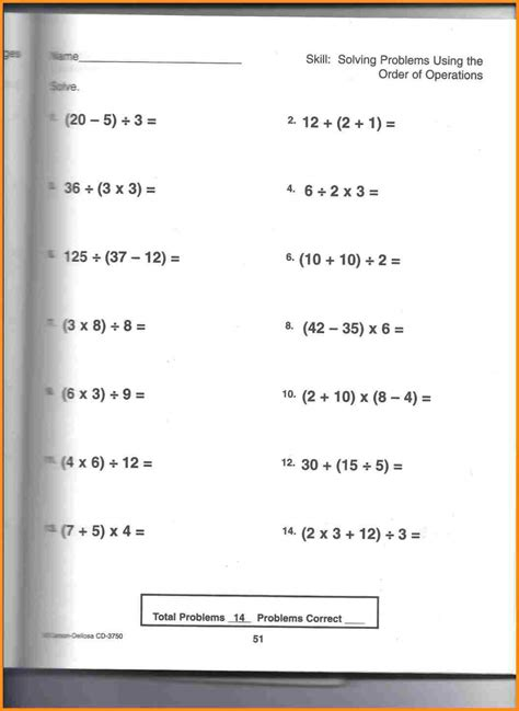 Percent Word Problems Worksheet 7th Grade by Free 7th Grade Math Worksheets Practice The Order Of