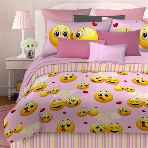 bed emoji veratex emoji girls pink happy face bed from discountduos