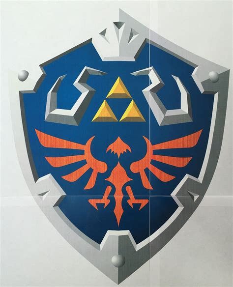 Hylian Shield Outline by My Foamsmithing Link S Hylian Shield Geekdad