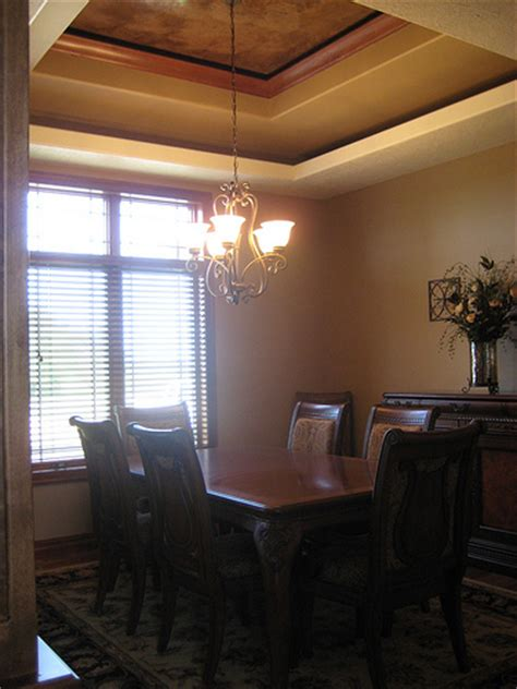 Dining Room Tray Ceiling by Tray Ceiling Dining Room Italian Venetian Plaster Be Flickr Photo