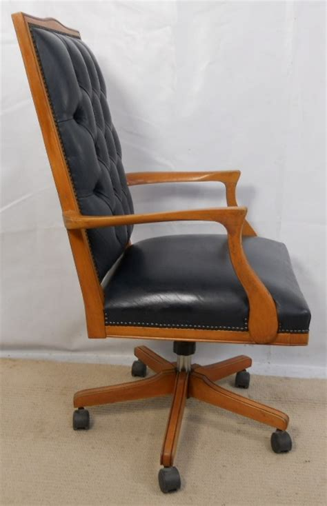 office armchairs uk leather upholstered wooden frame swivel office armchair