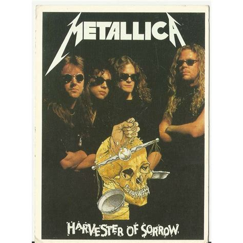 metallica harvester of sorrow harvester of sorrow by metallica postal card with
