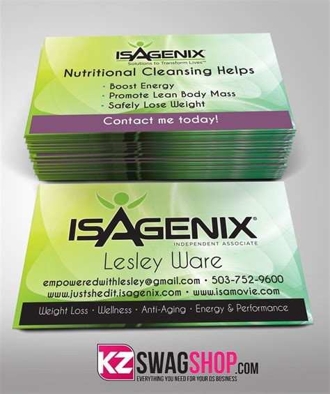 isagenix business card template isagenix business cards business card design inspiration