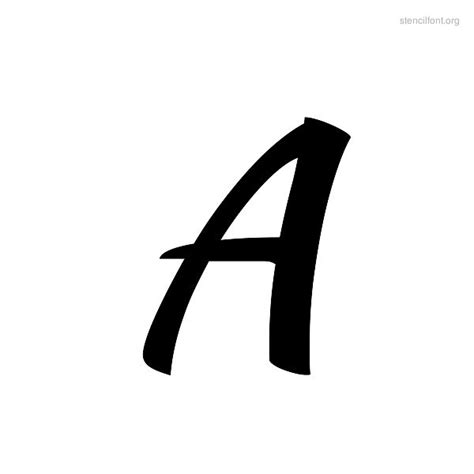 brush stencil font stencil font org