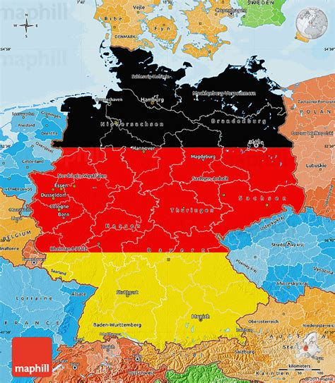 germany map political flag map of germany political shades outside