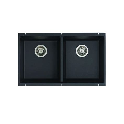 Blanco Precis Undermount Granite Composite 29 75 In Equal Double Bowl Kitchen Sink In Blanco Kitchen Sink Templates
