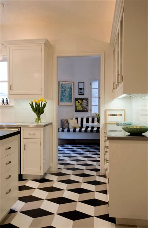 geometric floor modern kitchen los angeles crogan inlay floors