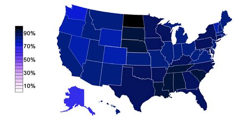 religion by state demographics of the united states