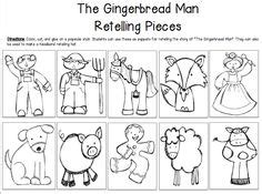 printable gingerbread man story characters gingerbread man story sequencing printables gingerbread