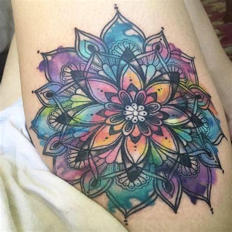 watercolor mandala tattoo 60 gorgeous mandala tattoos you ll wish were yours