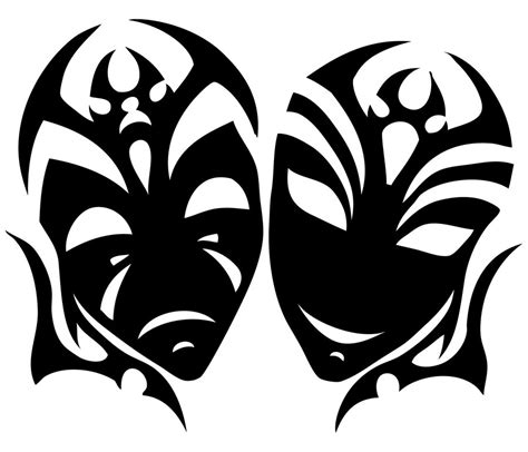 comedy tragedy tattoo designs comedy and tragedy masks images cliparts co