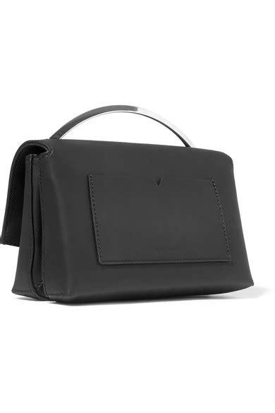 Eddie Leather Shoulder Bag by Eddie Borgo Boyd Vanity Matte Leather Shoulder Bag Net