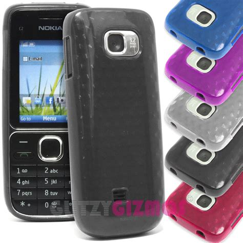 Casing Nokia C2 01 Transparan Non Tulang sytlish plain gel silicone rubber cover for nokia c2 01 c2 01 2700 classic ebay