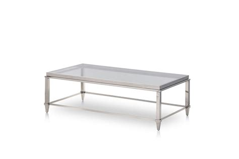 steel glass coffee table modrest agar modern glass stainless steel coffee table