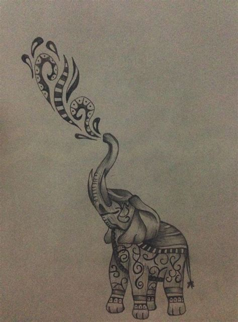 tattoo elephant and castle elephant for me and gin art pinterest