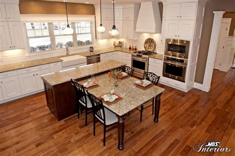 kitchen island with attached table kitchen island with table attached beauteous kitchen design trends 2015 from mbs interiors mbs