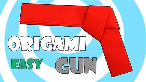 Easy Origami Gun - how to make easy paper origami gun pistol tutorial
