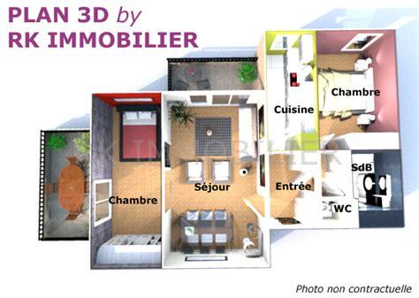 Faire Un Plan En 3d 3877 by Plan D Un Appartement Plan Appartement T3 50m2 Plan D 39