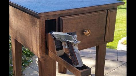 gun concealment furniture  table  hidden gun