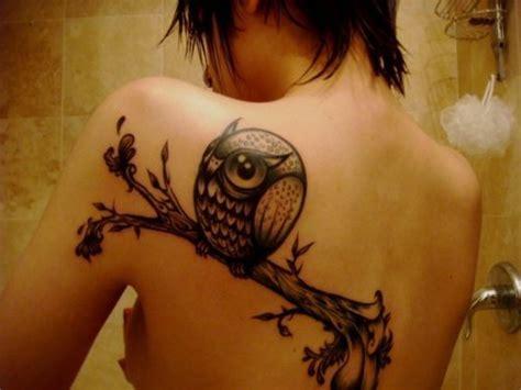owl tattoo la ink amy back tattoo ink owl tattoo image 298320 on favim com