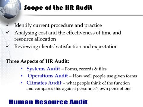 audit scope template hr audit