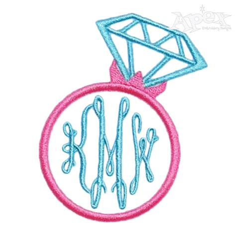 wedding rings embroidery design free wedding monogram ring embroidery designs