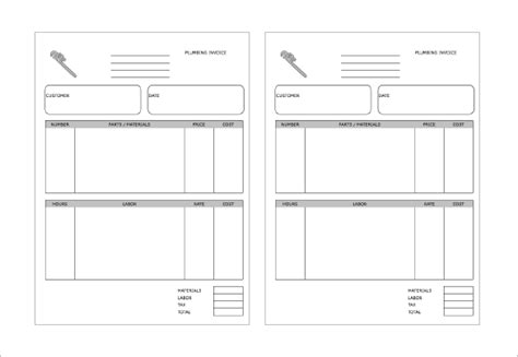receipt template for labor 4 plumbing receipt templates doc pdf free premium
