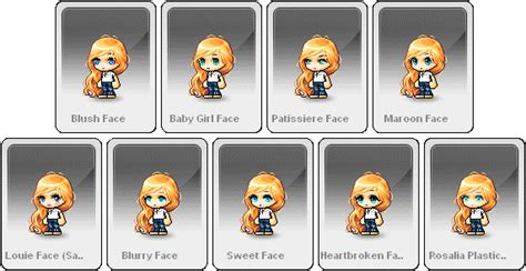 maplestory female faces male faces maplestory maplesea