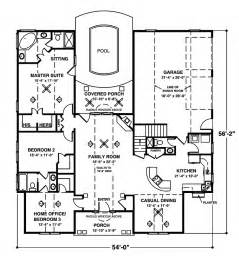 Floor Plans For Homes One Story Crandall Cliff One Story Home Plan 013d 0130 House Plans